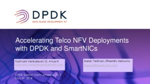 Accelerating Telco NFV Deployments with DPDK and SmartNICs pdf-300x169