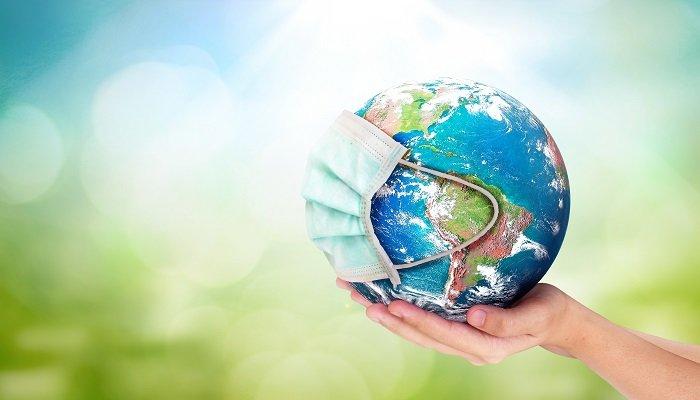 World,Environment,Day,Concept:,Corona,Virus,Or,Covid-19,Earth,Wearing